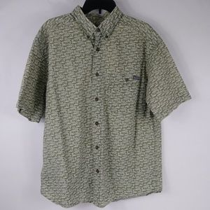 Woolrich Men's Large Short Sleeve Button Front